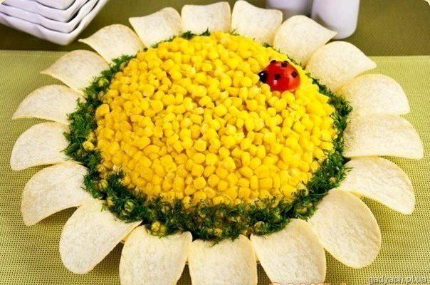 Салат подсолнух рецепты с фото