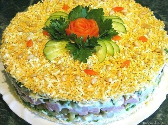 Салат слоёный с фото