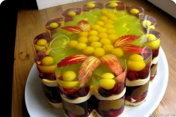 Желейно-фруктовий торт