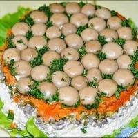 Рецепти салатов з фото грибна поляна